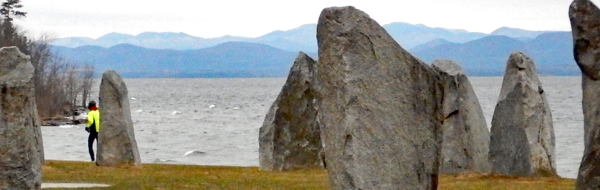 Lake Champlain and mini stonehenge