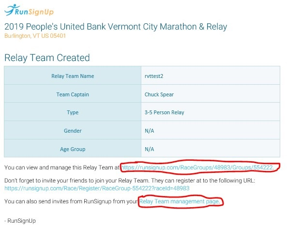 Relay team created